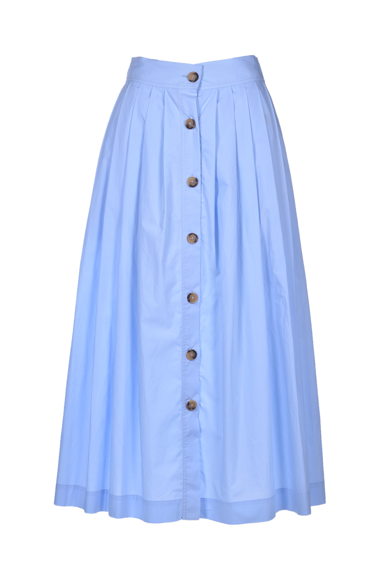 Cotton skirt with buttons - light blue JUCCA | Skirts | J31150001640