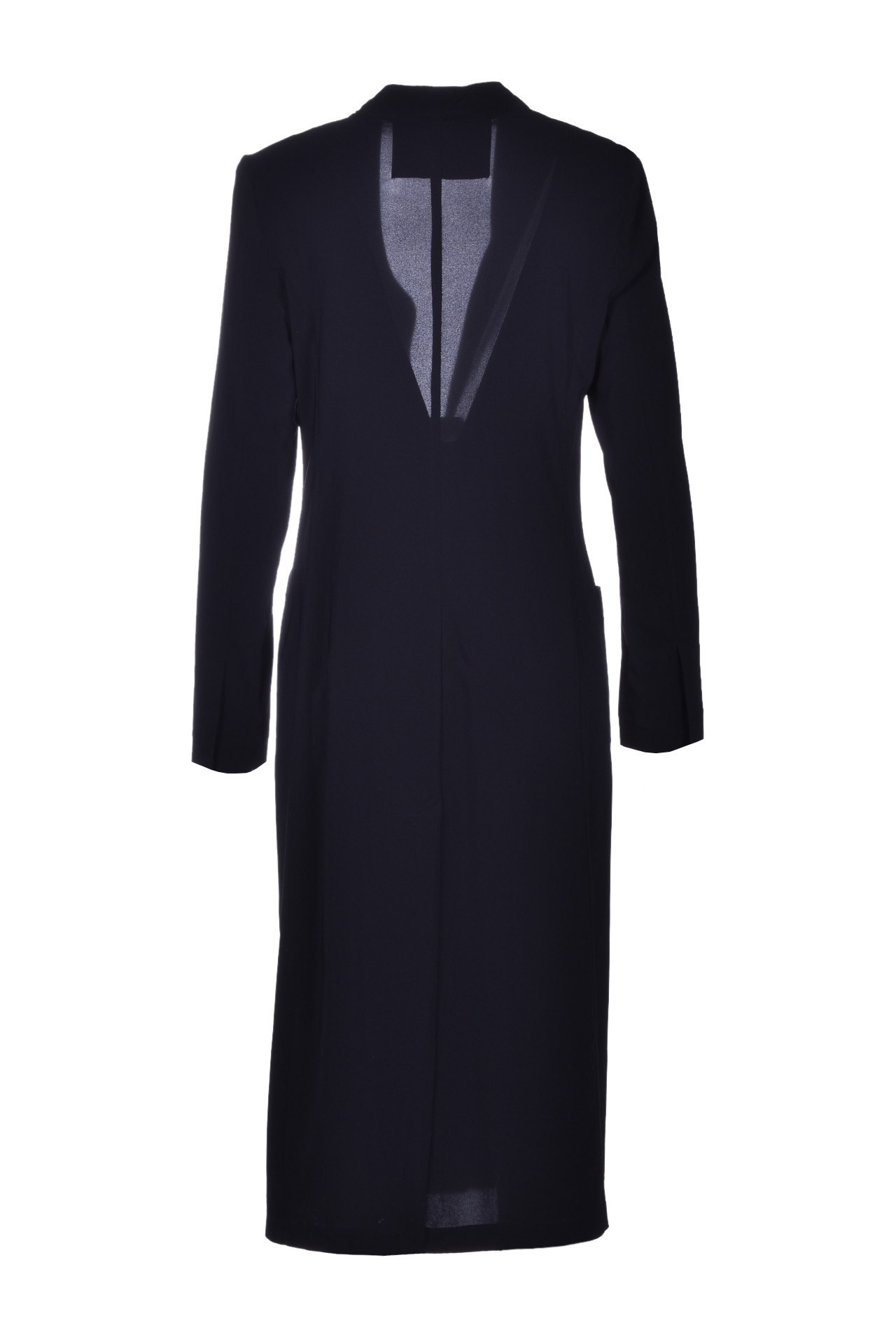 Long dust coat with pockets - black JUCCA |  | J3116001003