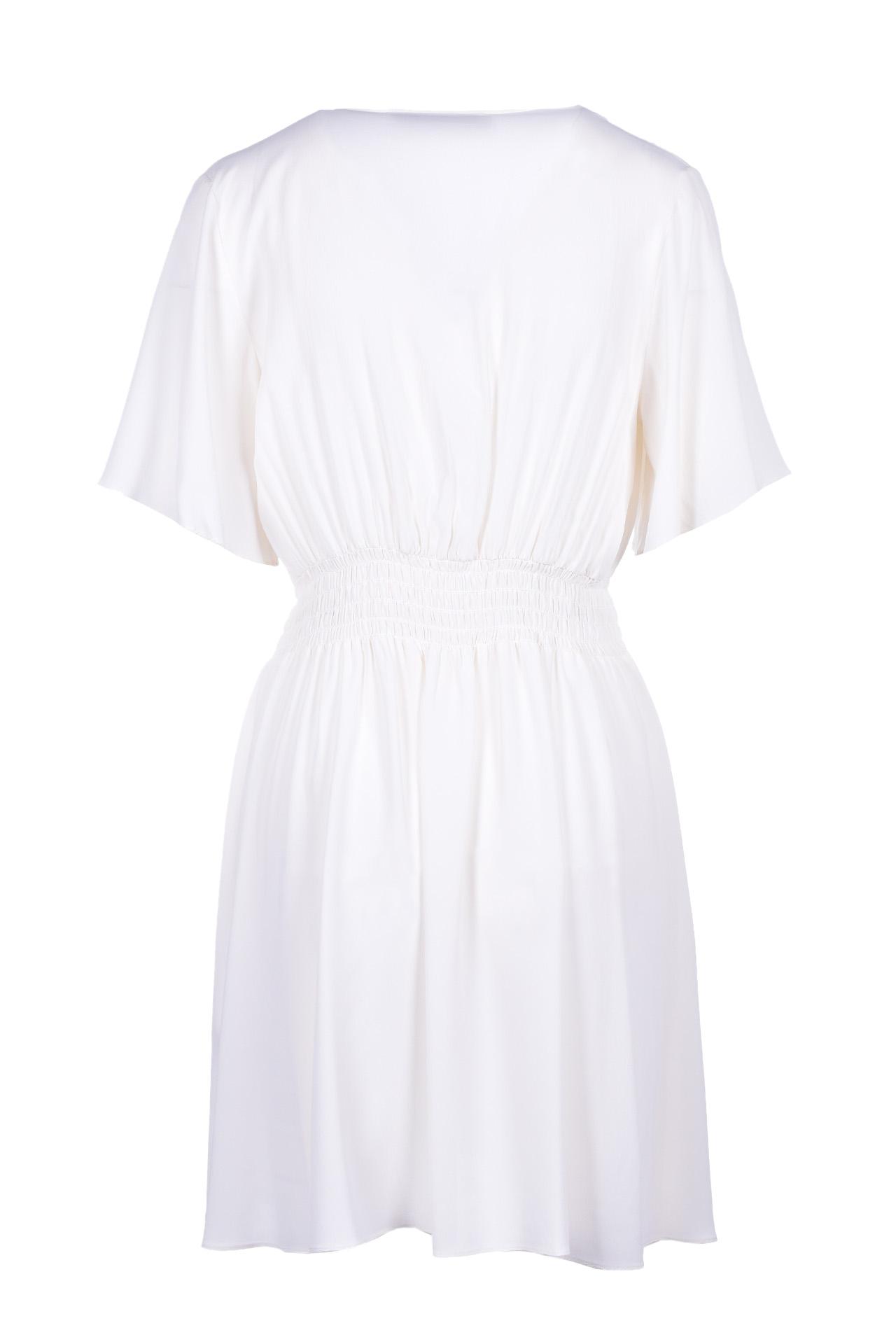 Mini dress with elastic - cream JUCCA | Dresses | J3117019045