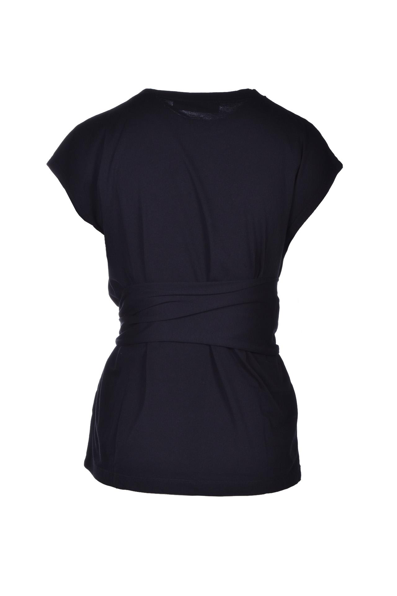 belt t-shirt - black JUCCA   T-shirts   J3118013003