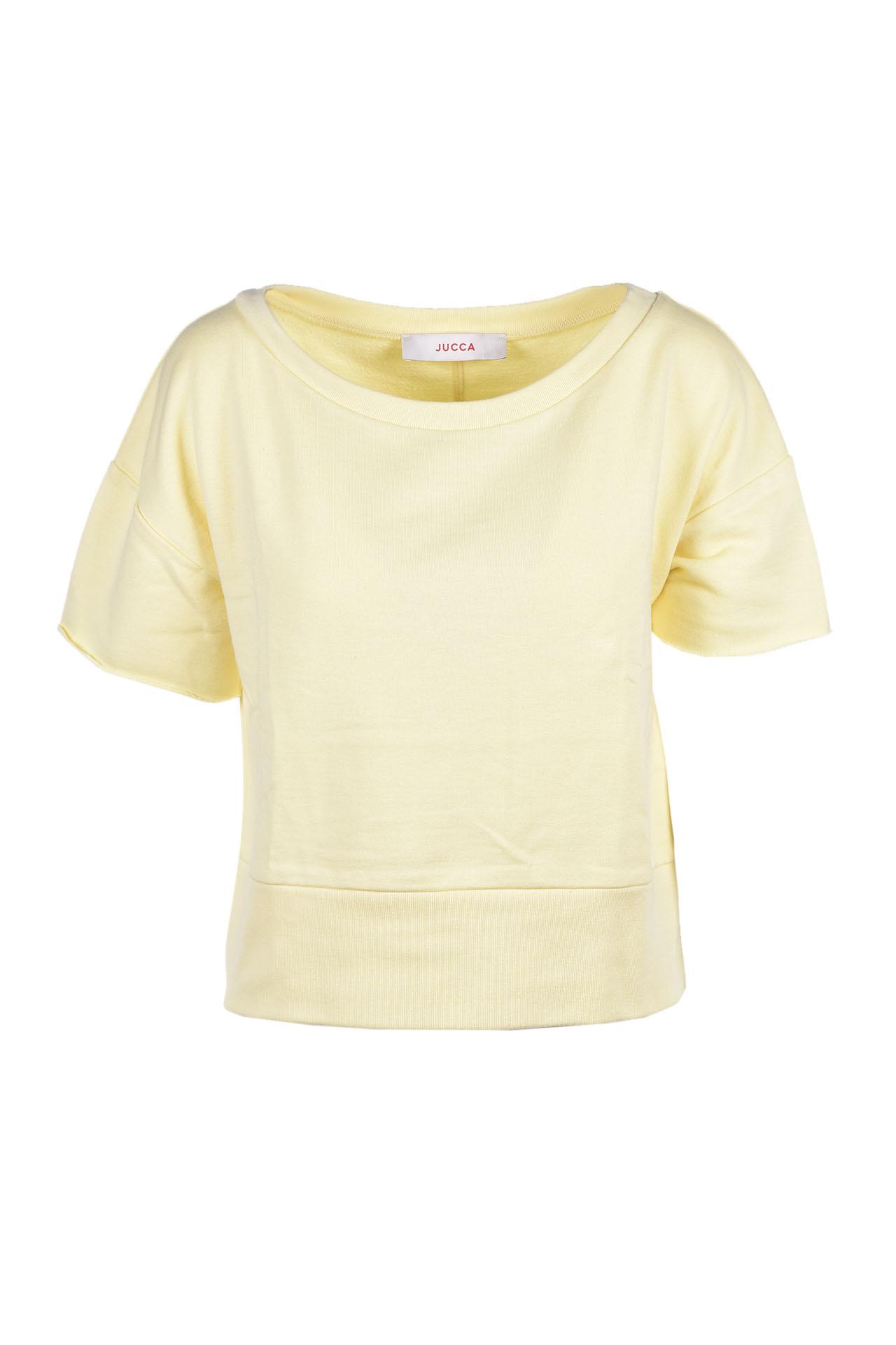 Short sweatshirt with wide neck - shy JUCCA | Sweatshirt | J31180291636