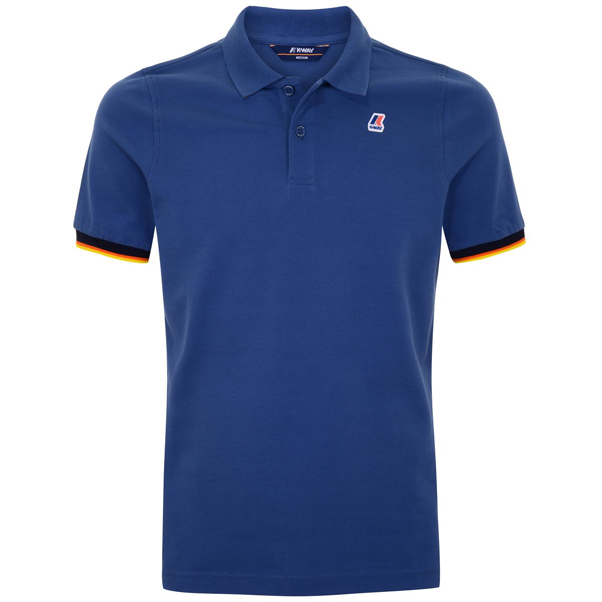 POLO VINCENT CONTRAST - Blue Riviera K-WAY | Polo Shirts | K008J50379
