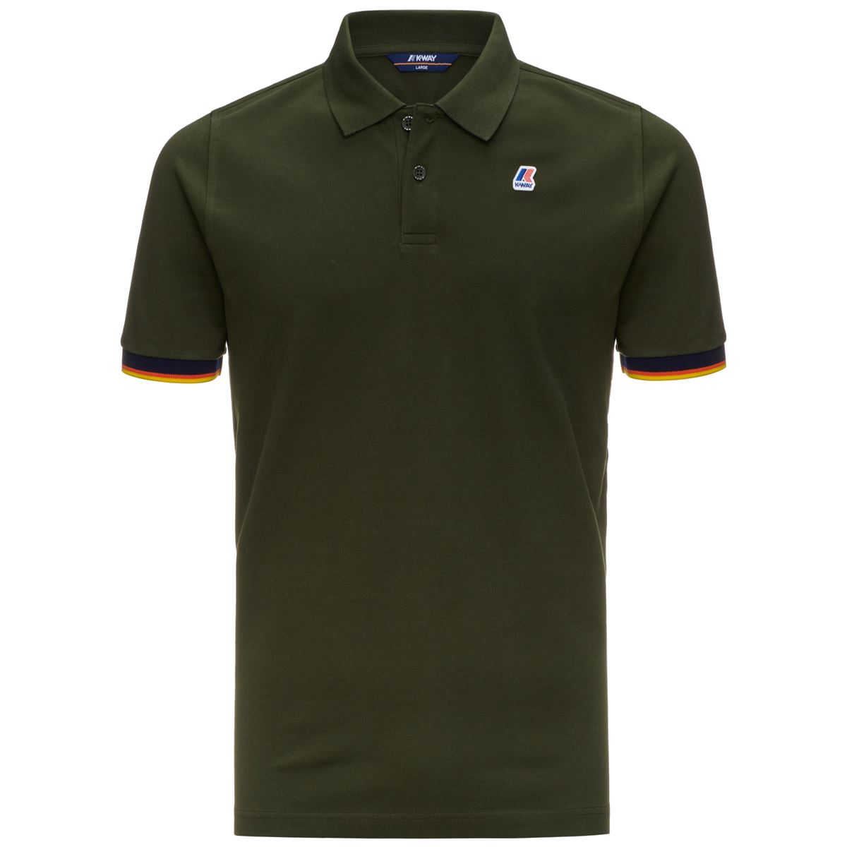 POLO VINCENT CONTRAST - Green Africa K-WAY | Polo Shirt | K008J50576