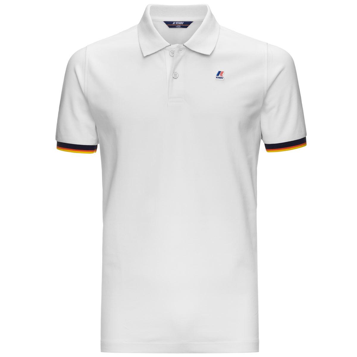 Polo vincent contrast - white K-WAY | Polo Shirt | K008J50K01