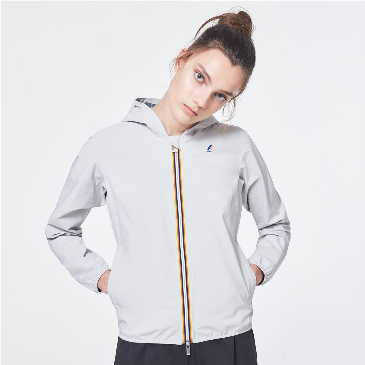 LIL STRETCH DOT - grey K-WAY | Jackets | K00BDK008Y