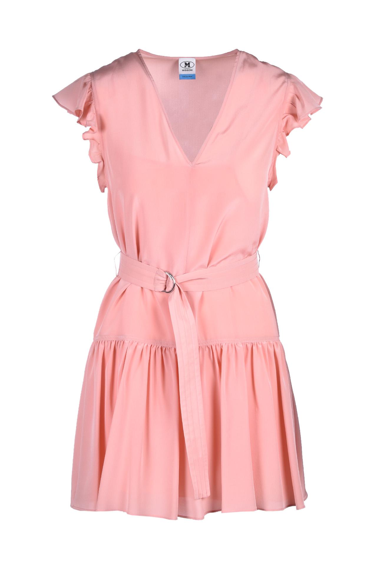 Mini abito in seta - rosa M MISSONI | Abiti | 2DG00262/2W001061431