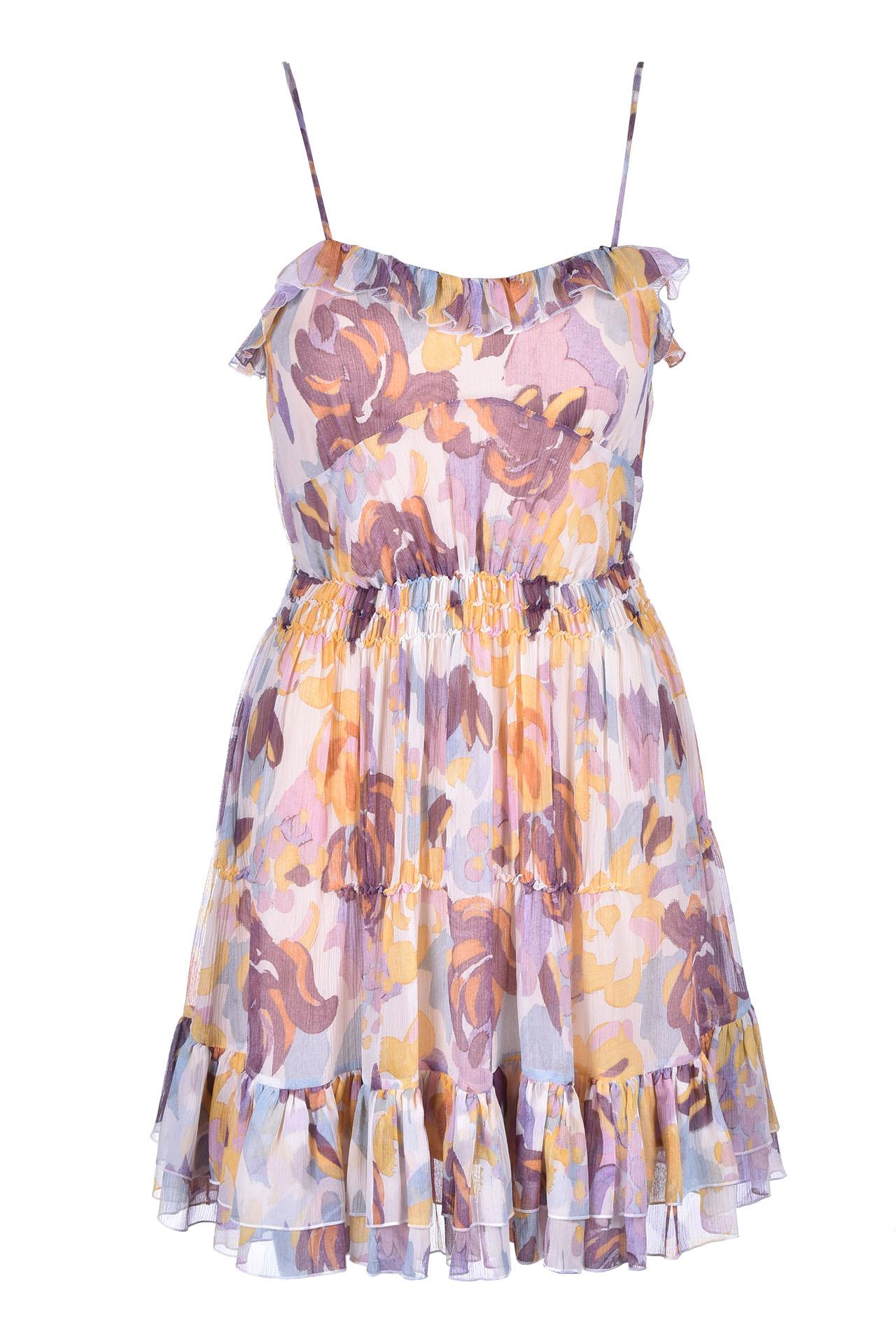 abito mini con balze - fiori melange M MISSONI | Vestiti | 2DG00267/2W0033S104G