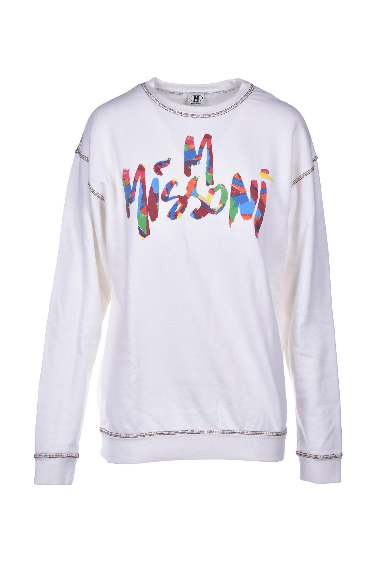 long-sleeved sweatshirt - white M MISSONI | Sweatshirt | 2DN001592J002114300