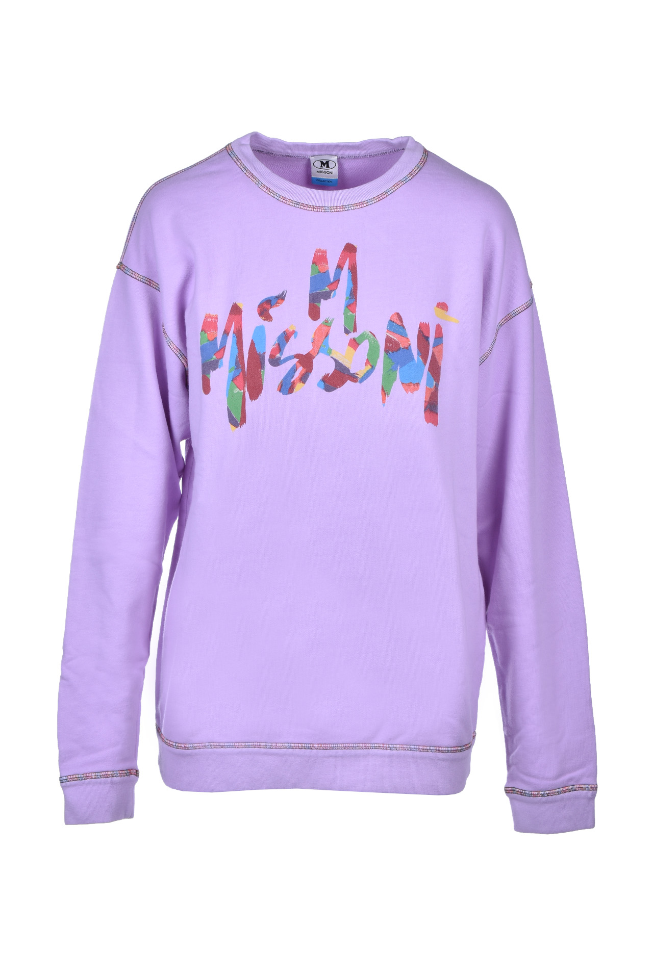 long-sleeved sweatshirt - lavender M MISSONI | Sweatshirt | 2DN001592J002153620
