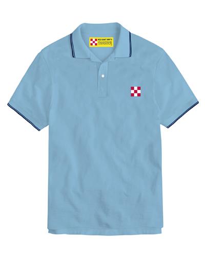 Polo in piquet con logo a scacchi - Light blue MC2 SAINT BARTH   Polo   BEVERLY HILLS31