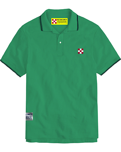 Polo in piquet con logo a scacchi - mint MC2 SAINT BARTH | Polo | BEVERLY HILLS57N