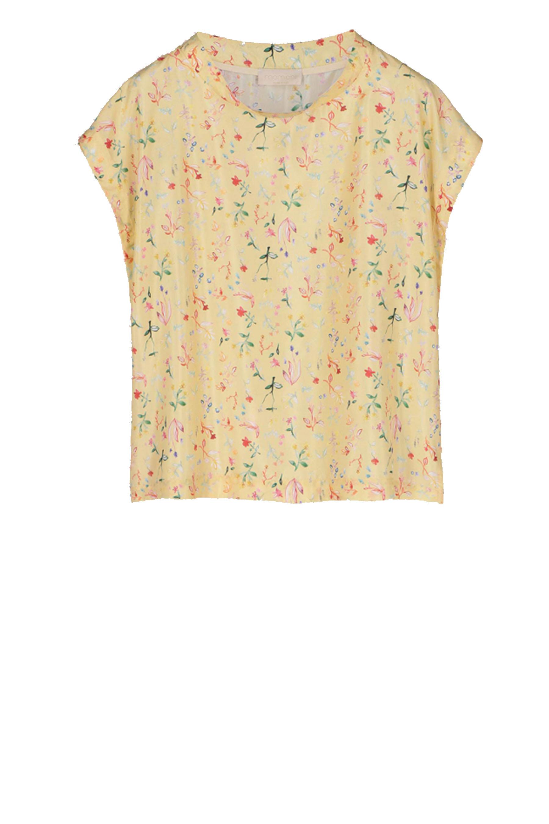 Sleeveless blouse in silk MOMONI | Blouses | MOBL004 03MO4020