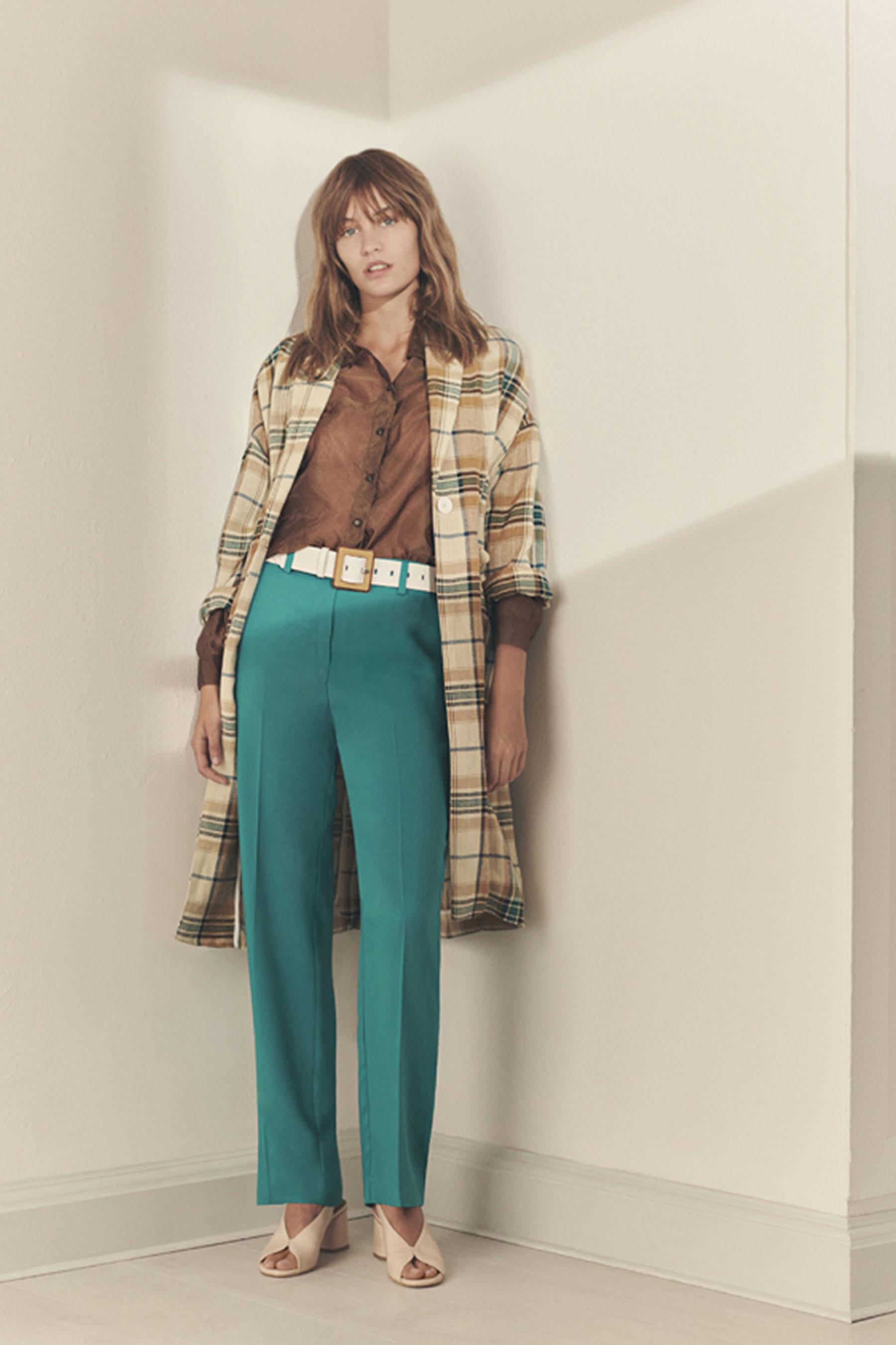 Oversized coat, unlined in check pattern MOMONI | Coat | MOCO005 19MO7032