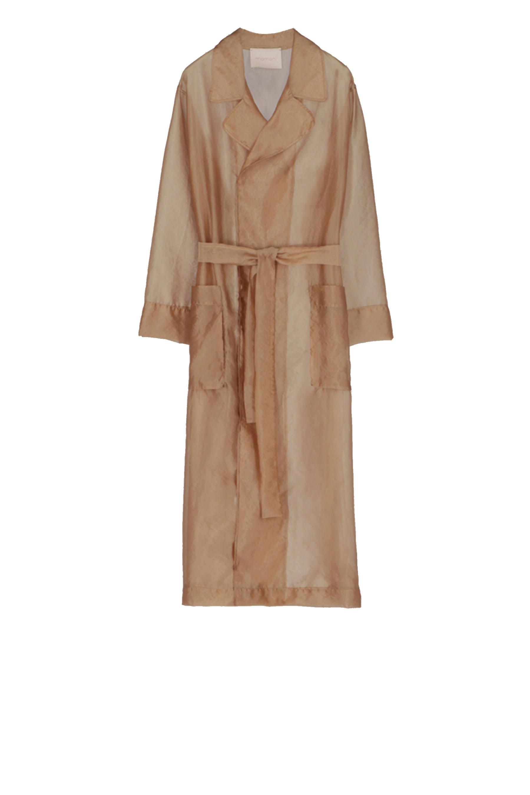 Trench coat with organza belt MOMONI | Coat | MOCO006 23MO0050