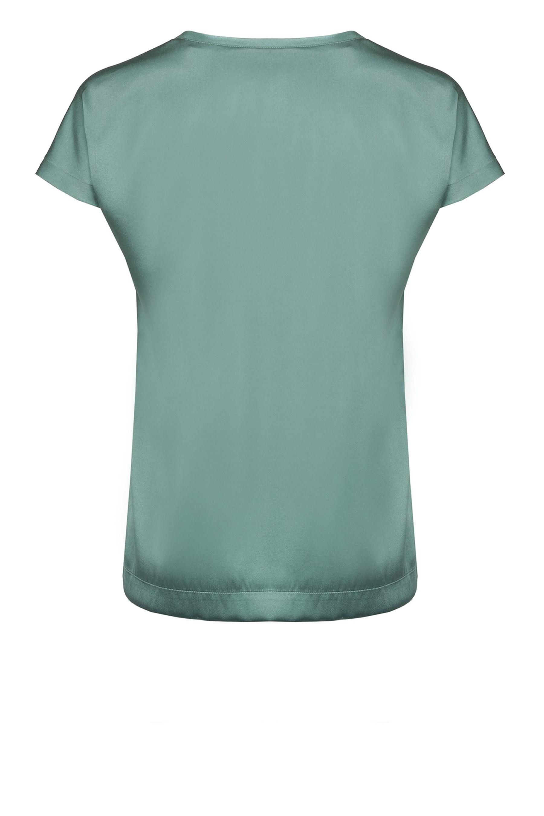 Top a maniche corte in raso di seta PINKO | Bluse | 1G14TU-ZR64X70
