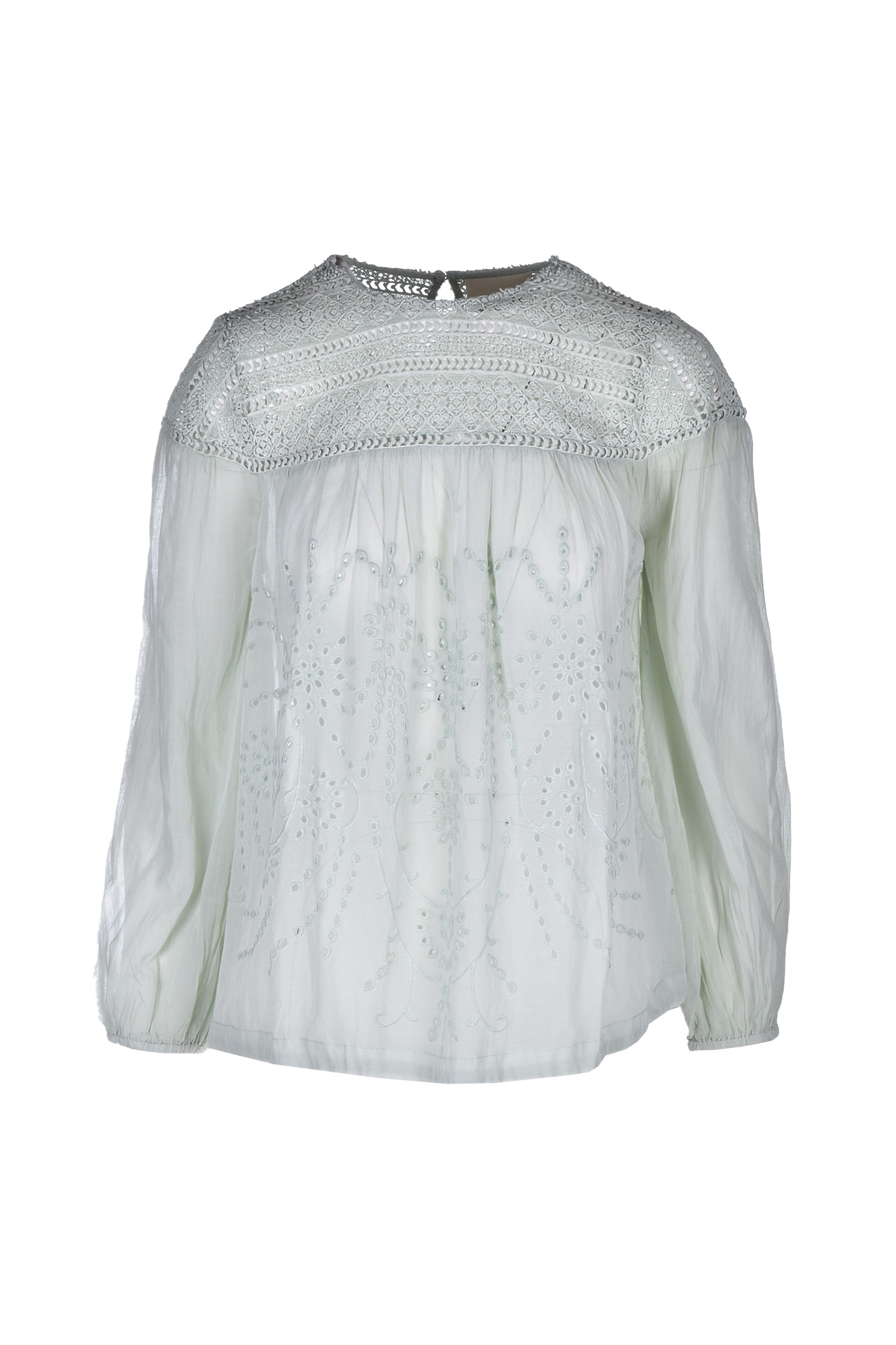 Blouse with lace - jade SEMICOUTURE | Blouse | S0SI04N54-0