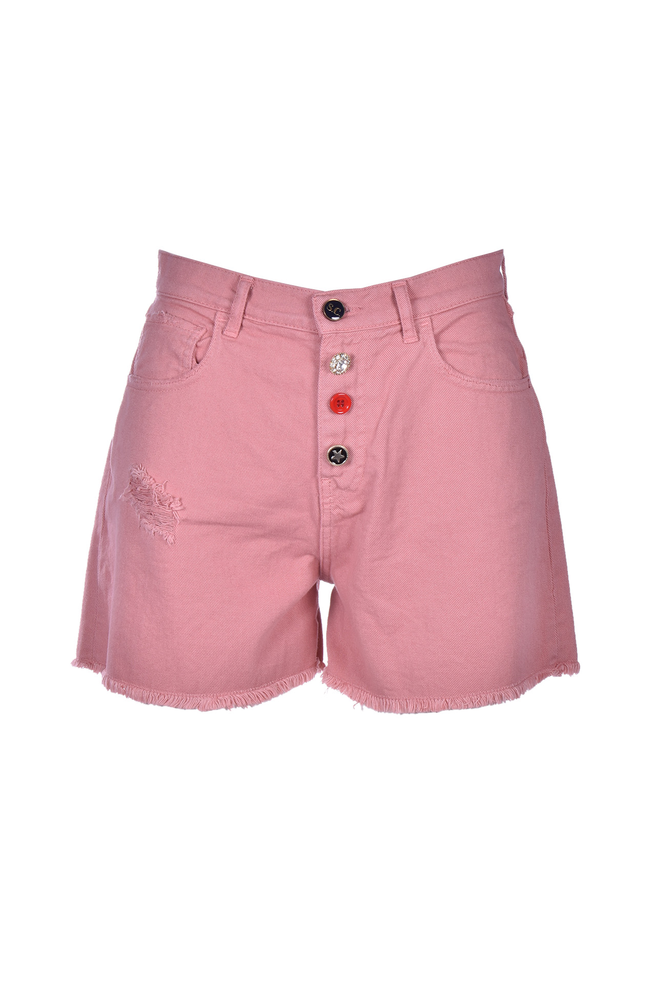 chelsie short bermuda - dusty pink SEMICOUTURE | Jeans | S0SY12H17-0