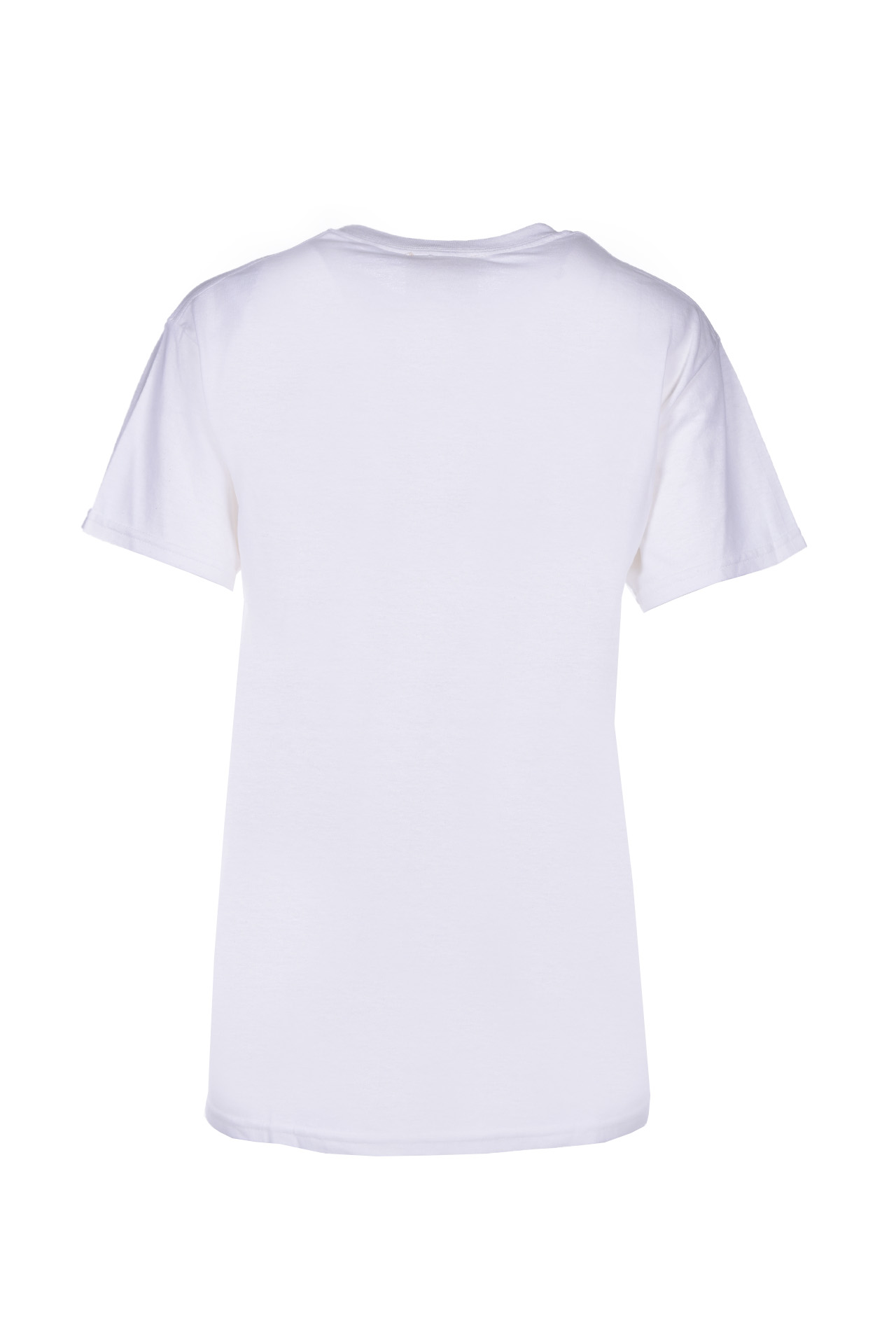 elora Printed cotton T-shirt - white SEMICOUTURE | T-shirts | Y0SJ42A01-0