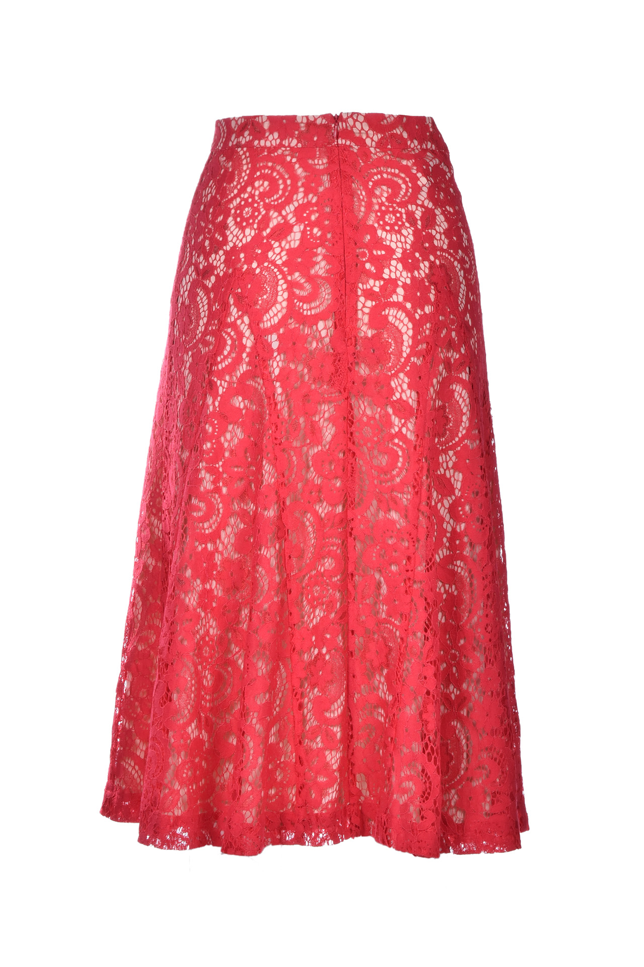 flavie lace midi skirt - poppy SEMICOUTURE | Skirts | Y0SM03D09-0