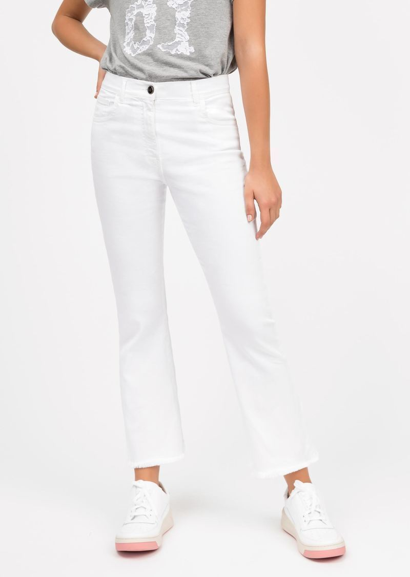 frederick Fringed flare jeans - white SEMICOUTURE | Jeans | Y0SY10A01-0