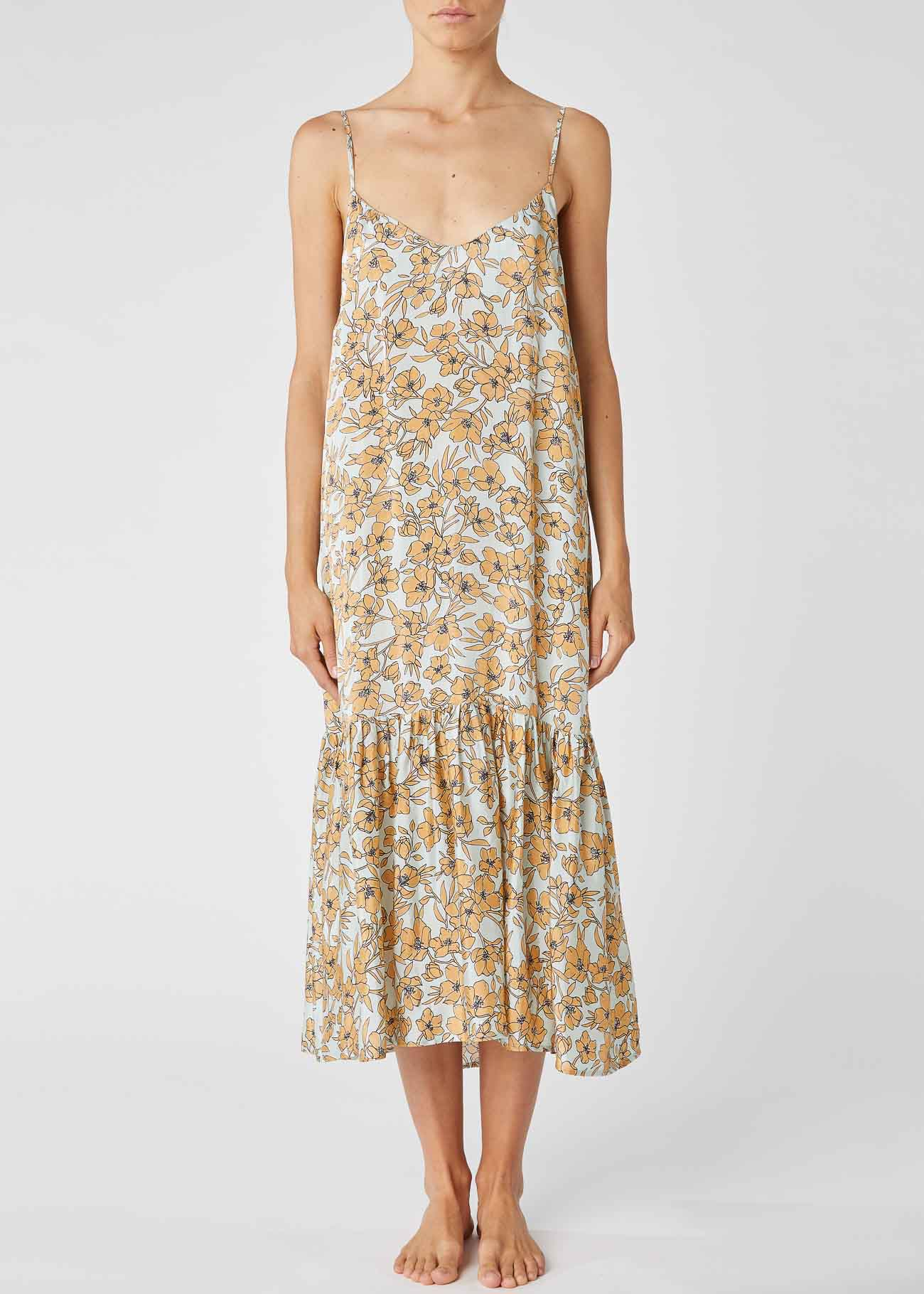 Floral print satin midi dress ALESSIA SANTI |  | 15011119071-01