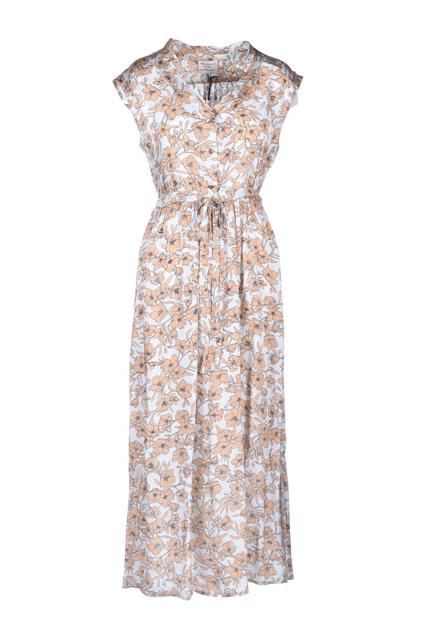 Vestito lungo in satin con stampa floreale ALESSIA SANTI | Vestiti | 15050119071-01