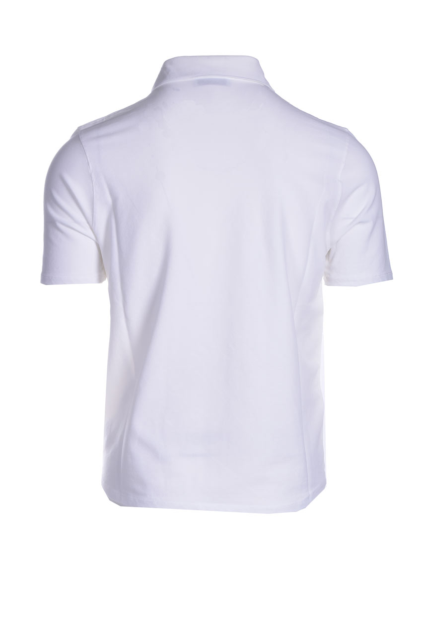 Stretch cotton pique polo shirt ALPHA STUDIO   Polo Shirt   AU 4500/B1260