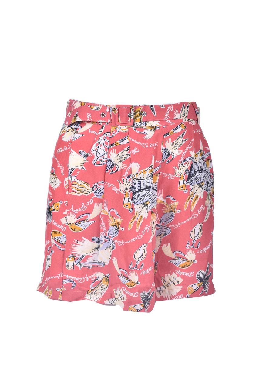 Shorts in natural fabric with print ANTIK BATIK   Shorts   HILO1SOTRED