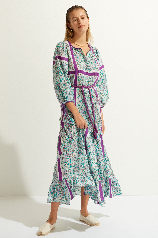 Maxi dress in voile di cotone stampato in blu ANTIK BATIK | Vestiti | MARIUS1LDRLIGHTBLUE
