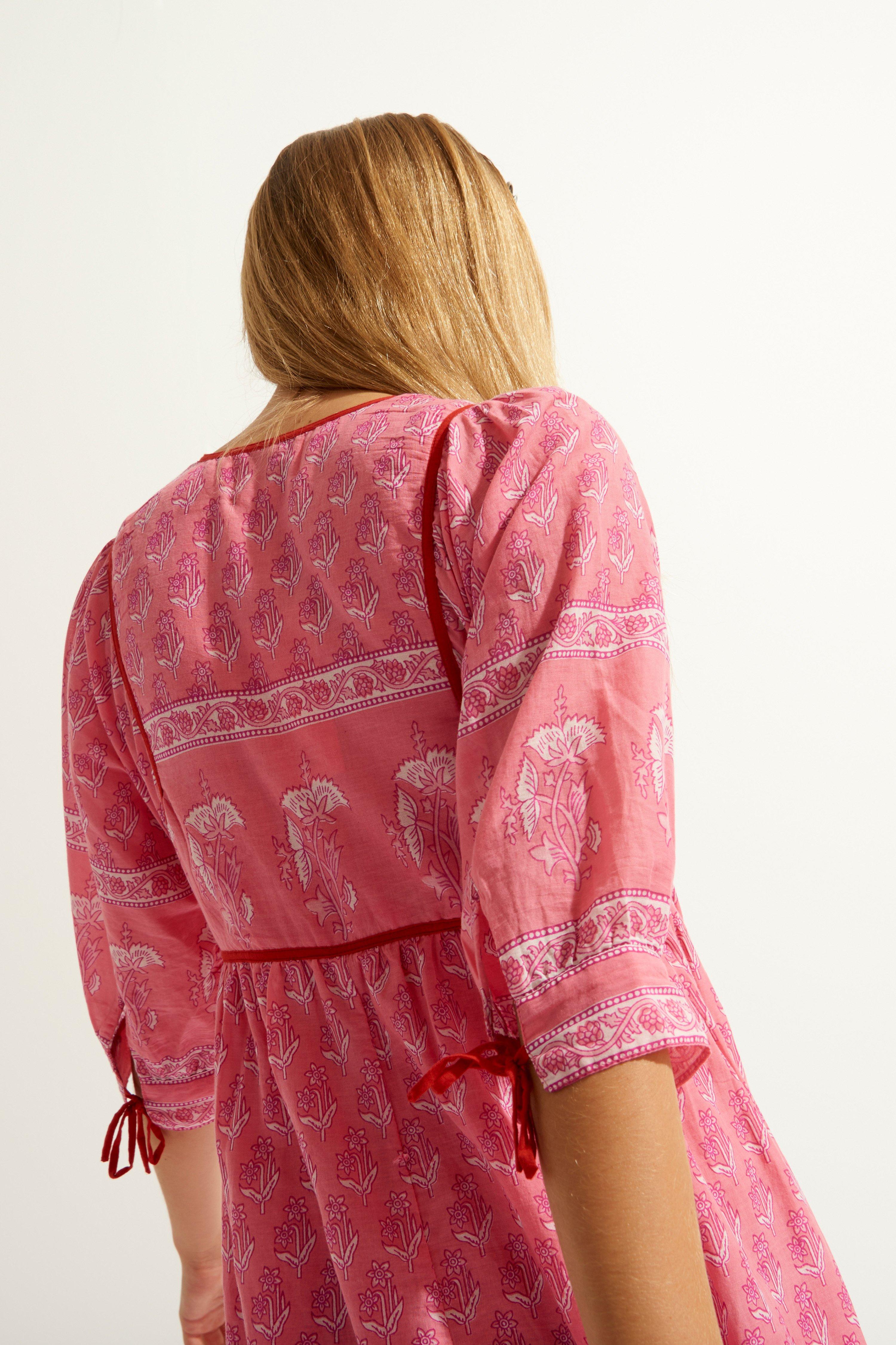 Maxi dress taglio impero uìin voile di cotone rosa ANTIK BATIK | Vestiti | MORI1LDRPINK