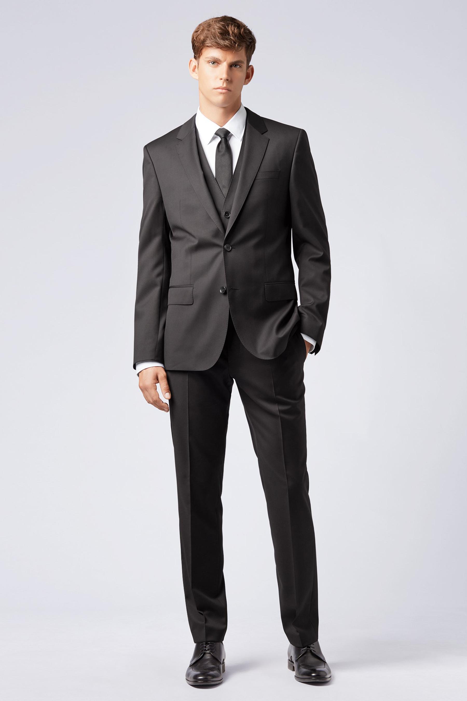 Slim-fit waistcoat in virgin wool BOSS | Vest | 50318500001