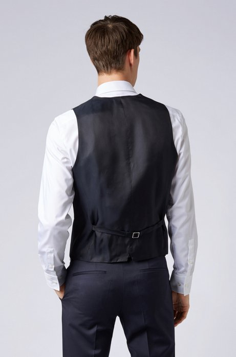 Slim-fit waistcoat in virgin wool BOSS   Vest   50318500401