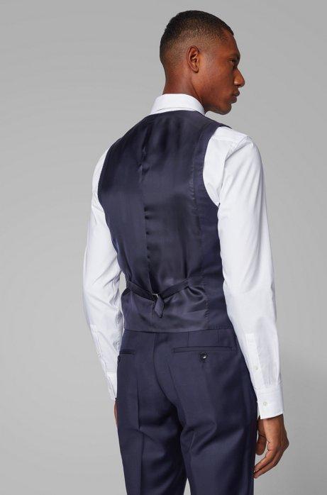 Tailored slim-fit waistcoat in virgin wool Loropiana super 150'S BOSS | Vest | 50384771410