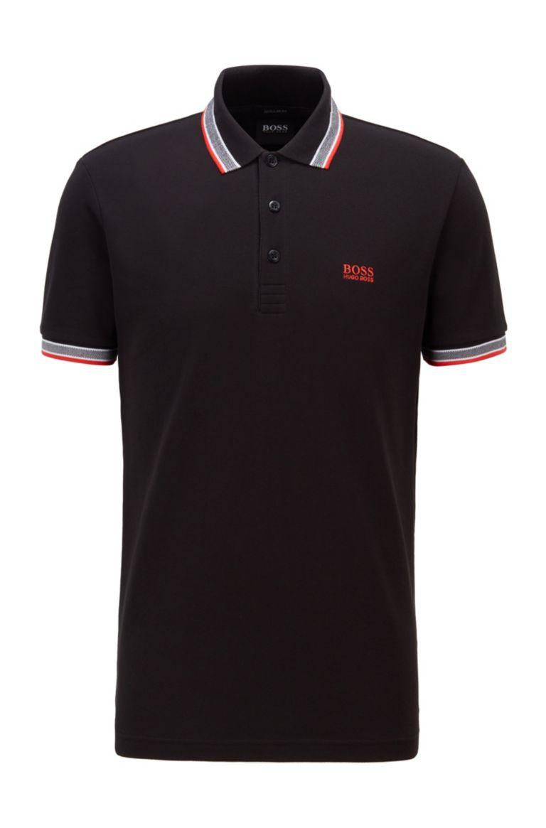 Polo in piqué di cotone con contrasti BOSS | Polo | 50398302008