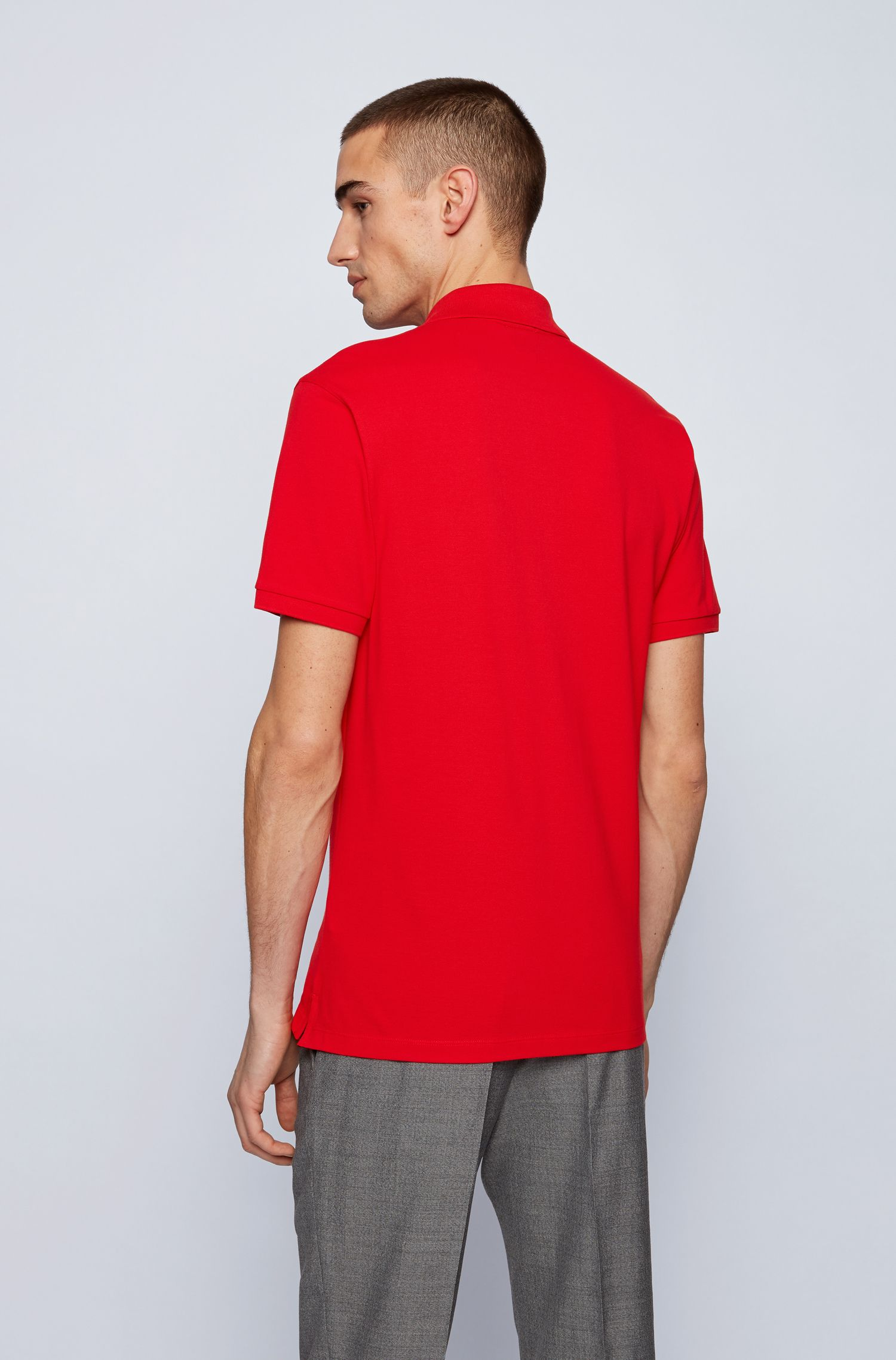 Polo regular fit in piqué di cotone Pima BOSS | Polo | 50425985628