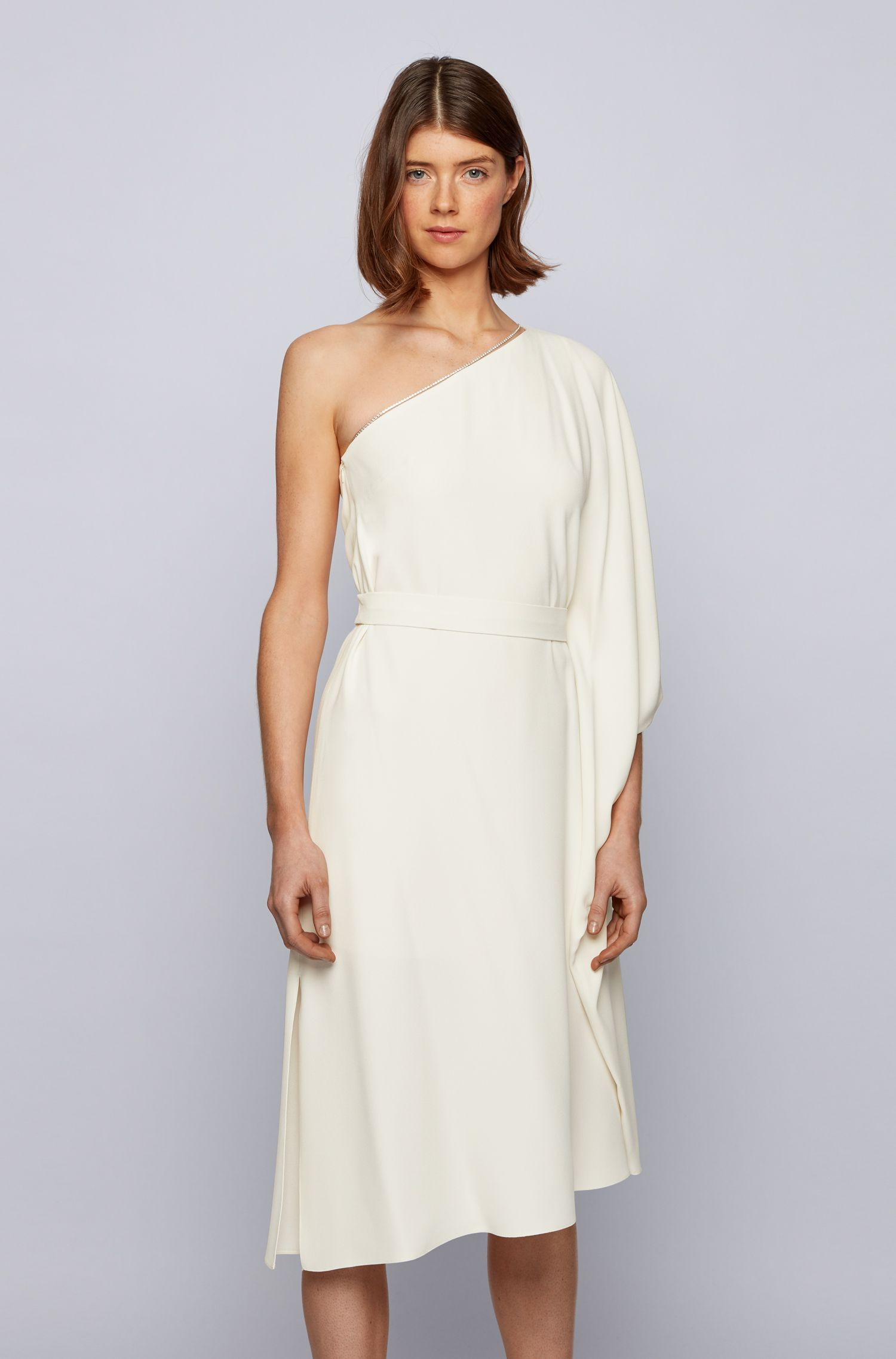 One shoulder asymmetrical dress with Swarovski® crystal chain BOSS |  | 50442881118