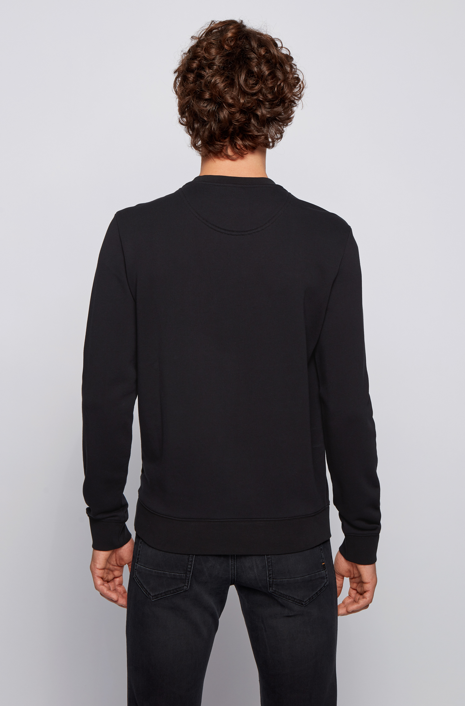 Relaxed fit cotton sweatshirt with logo and embroidery BOSS | Sweatshirt | 50448138001