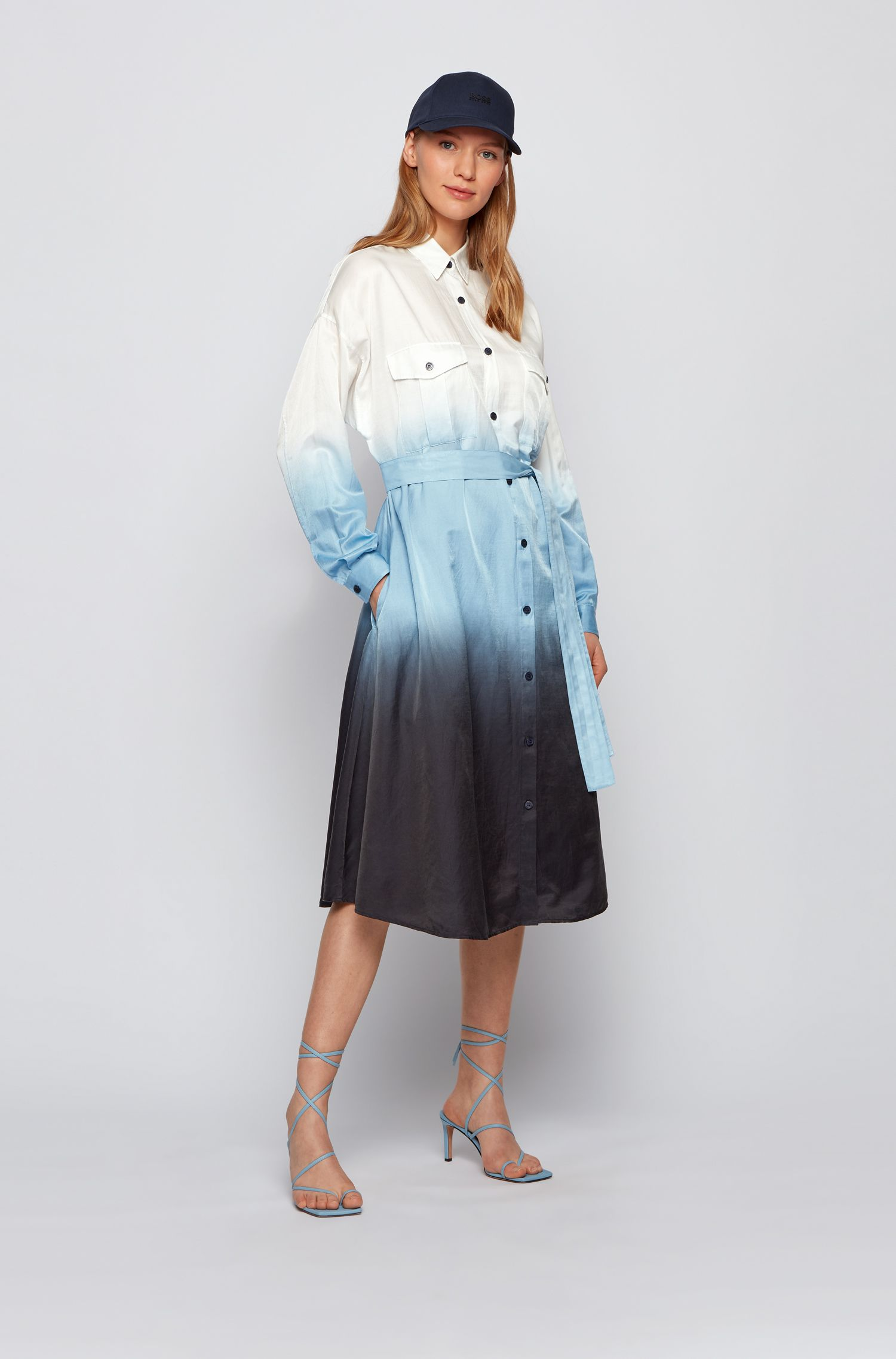 Dip-dye chemisier in cotton and silk BOSS |  | 50449975963