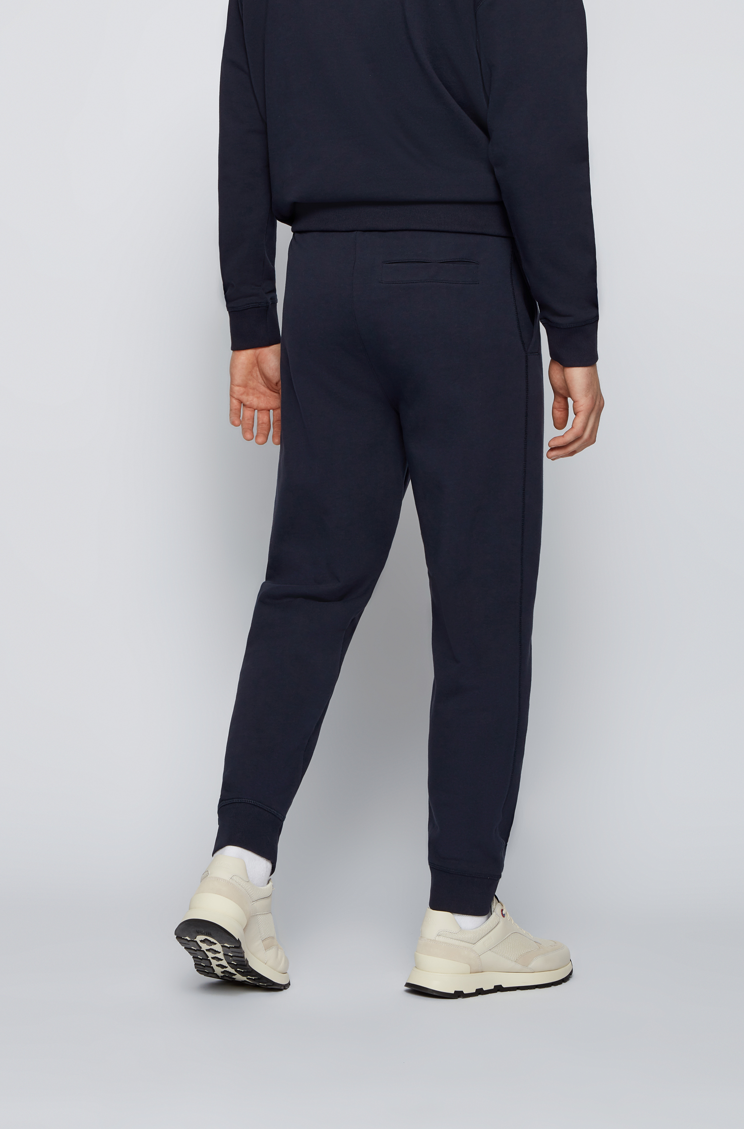 Organic cotton sweatpants with elastic leg bottom and exclusive logo BOSS | Sweatshirt | 50456903404
