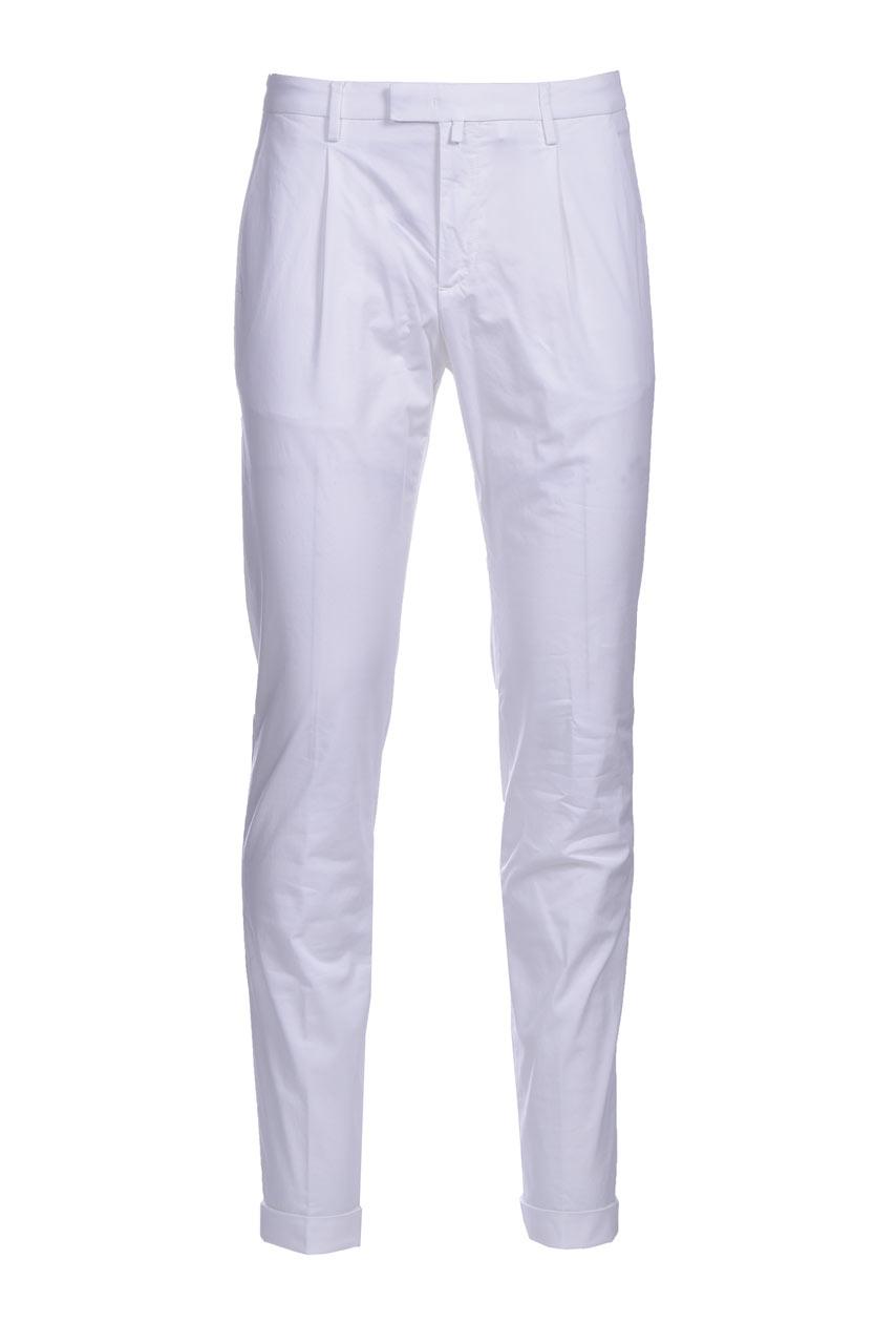 Slim fit chino trousers with pleats BRIGLIA   Pants   BG07 321127150