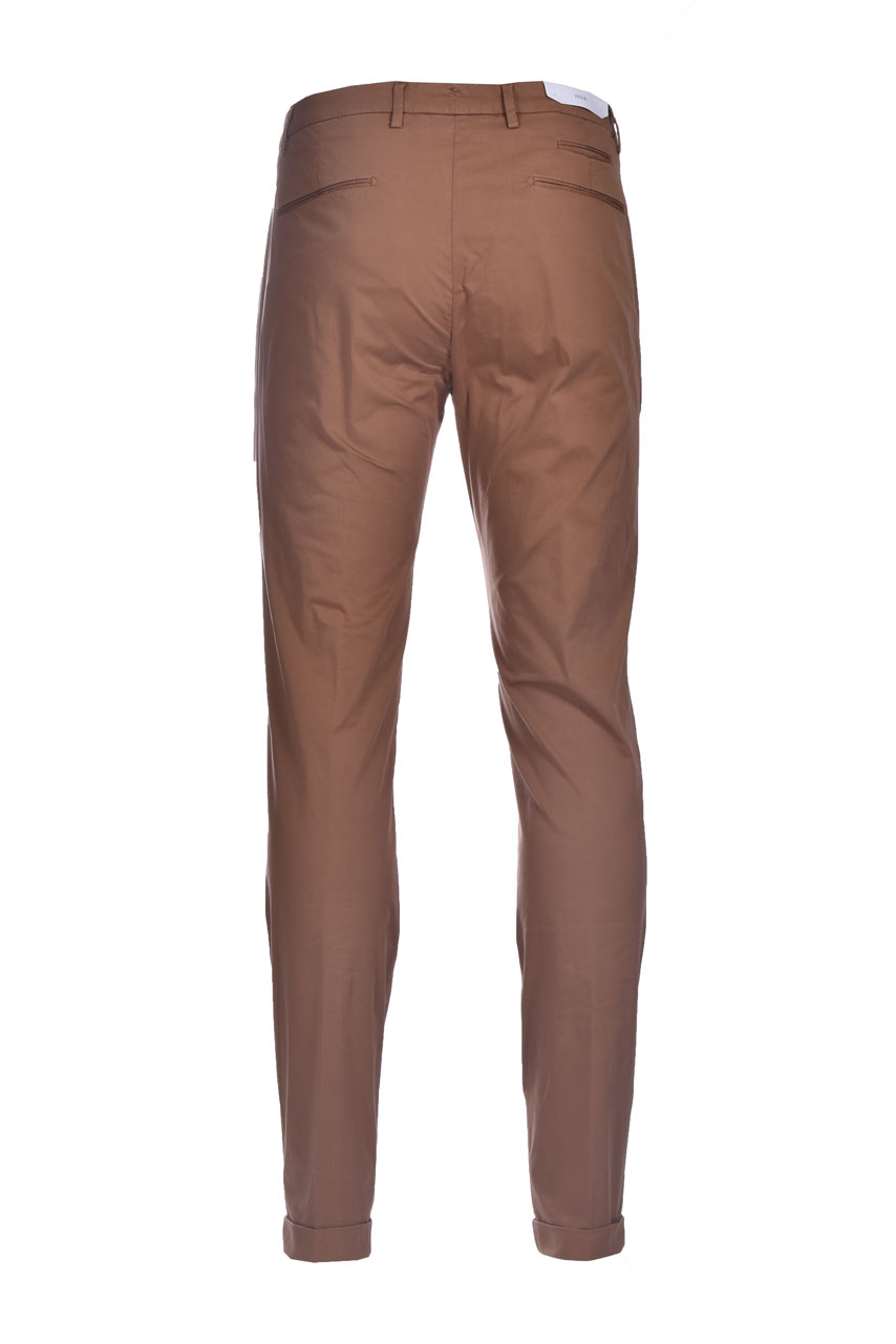 Slim fit chino trousers with pleats BRIGLIA   Pants   BG07 32112736