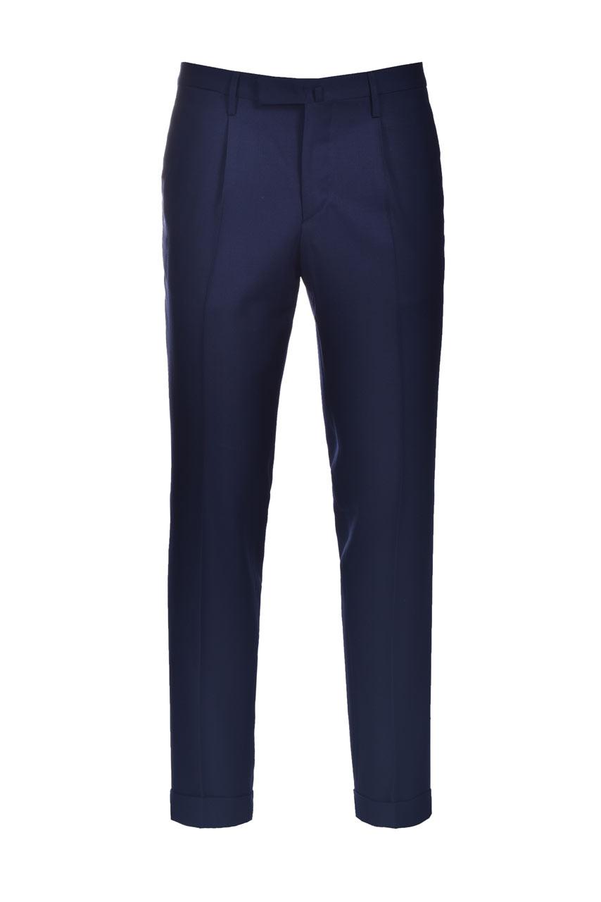 Pantalone in lana slim fit con risvolti BRIGLIA   Pantaloni   BG21W 32112111