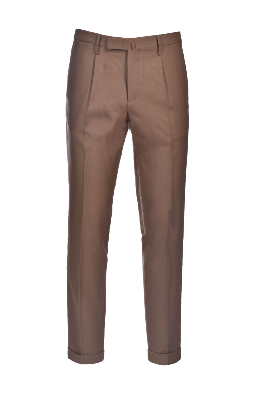 Slim fit wool trousers with turn-ups BRIGLIA   Pants   BG21W 32112173