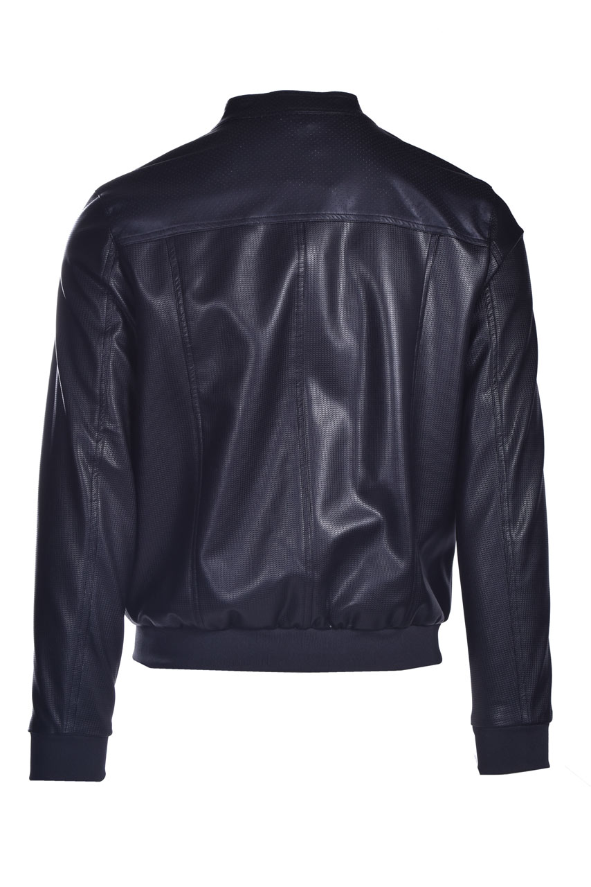 Faux leather jacket with placket DANIELE ALESSANDRINI | Jackets | I814441001