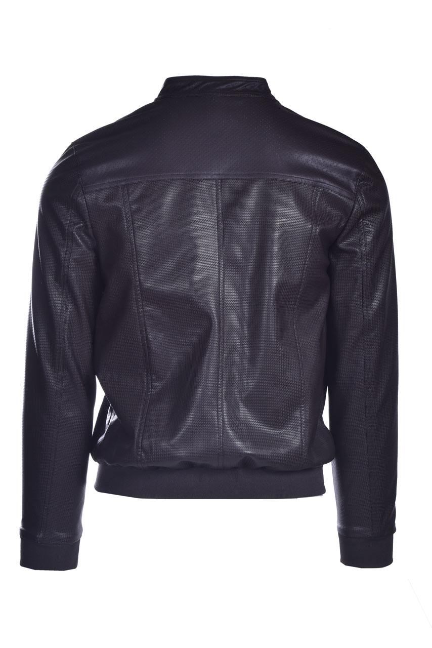 Faux leather jacket with placket DANIELE ALESSANDRINI | Jackets | I8144410034