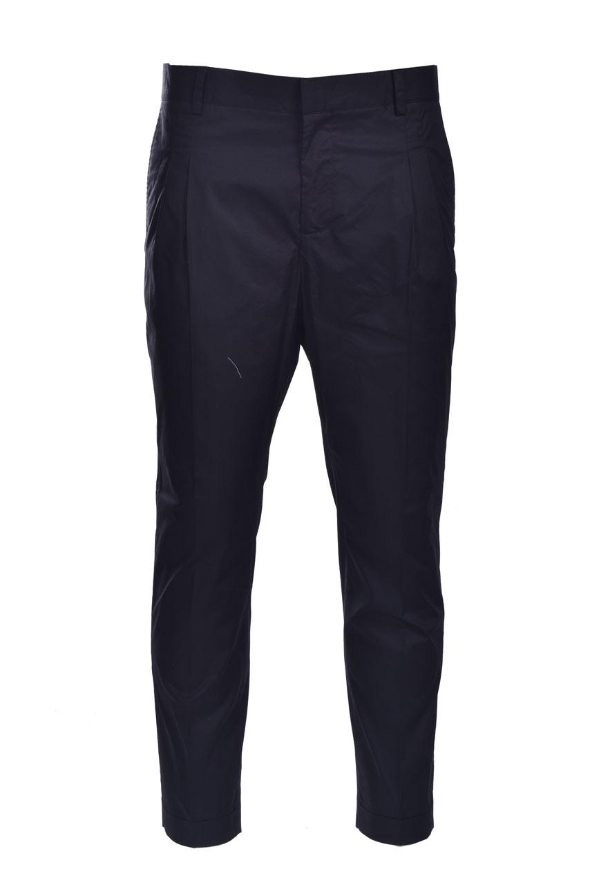 Pantaloni baggy in popeline con pence DANIELE ALESSANDRINI   Pantaloni   P3975N100641001