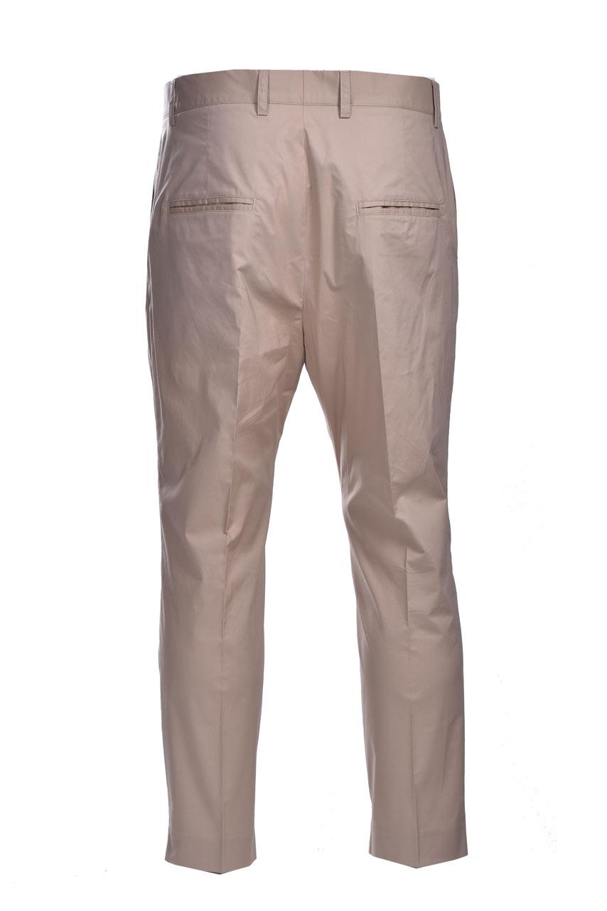 Poplin baggy trousers with pence DANIELE ALESSANDRINI   Pants   P3975N1006410015