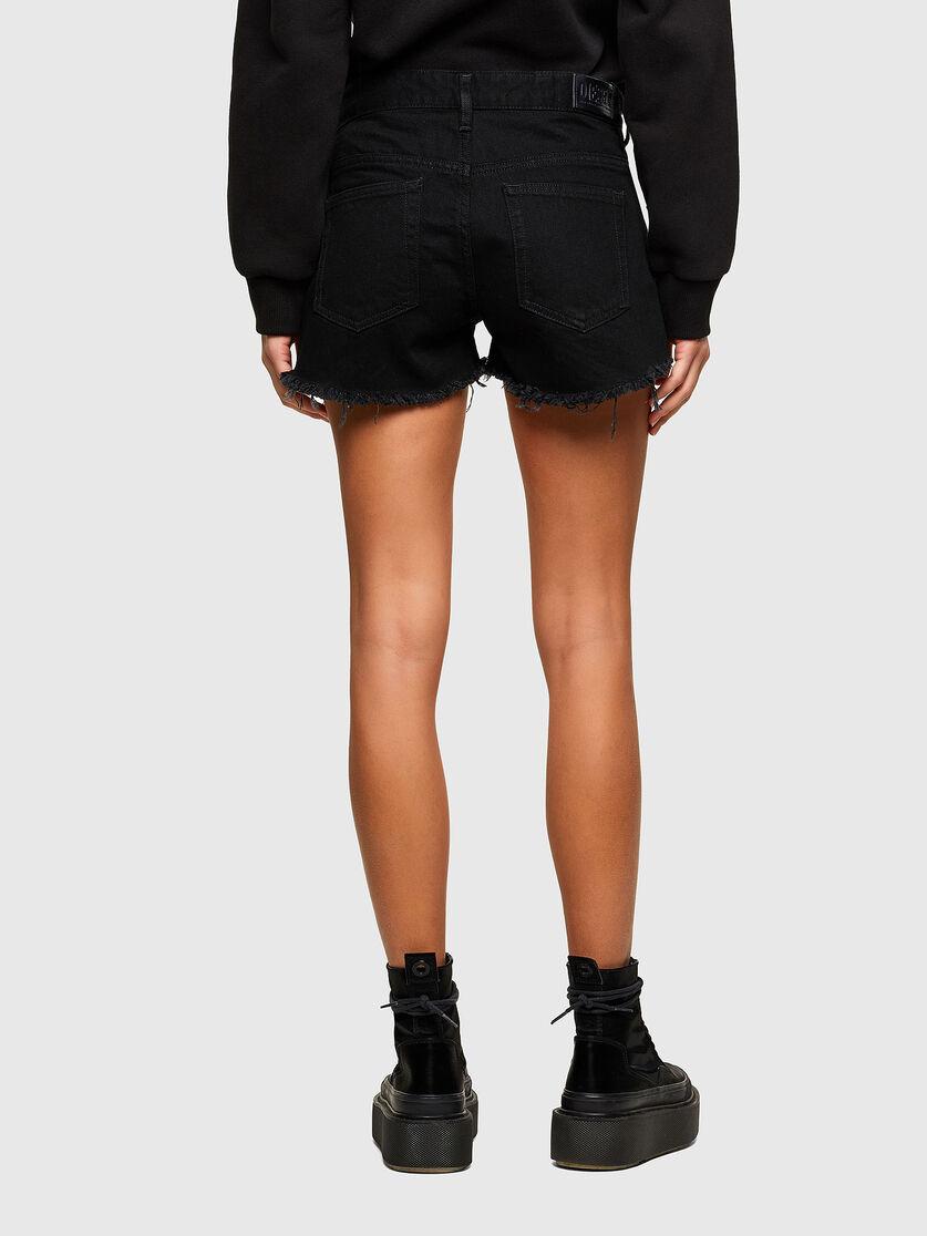 De-Rifty Shorts in black denim DIESEL | Shorts | 00SQQ3 0ABBV02