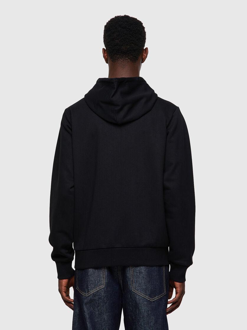 Sweatshirt with hood and zip with D logo application DIESEL | Sweatshirt | A00327 0HAYT9XX
