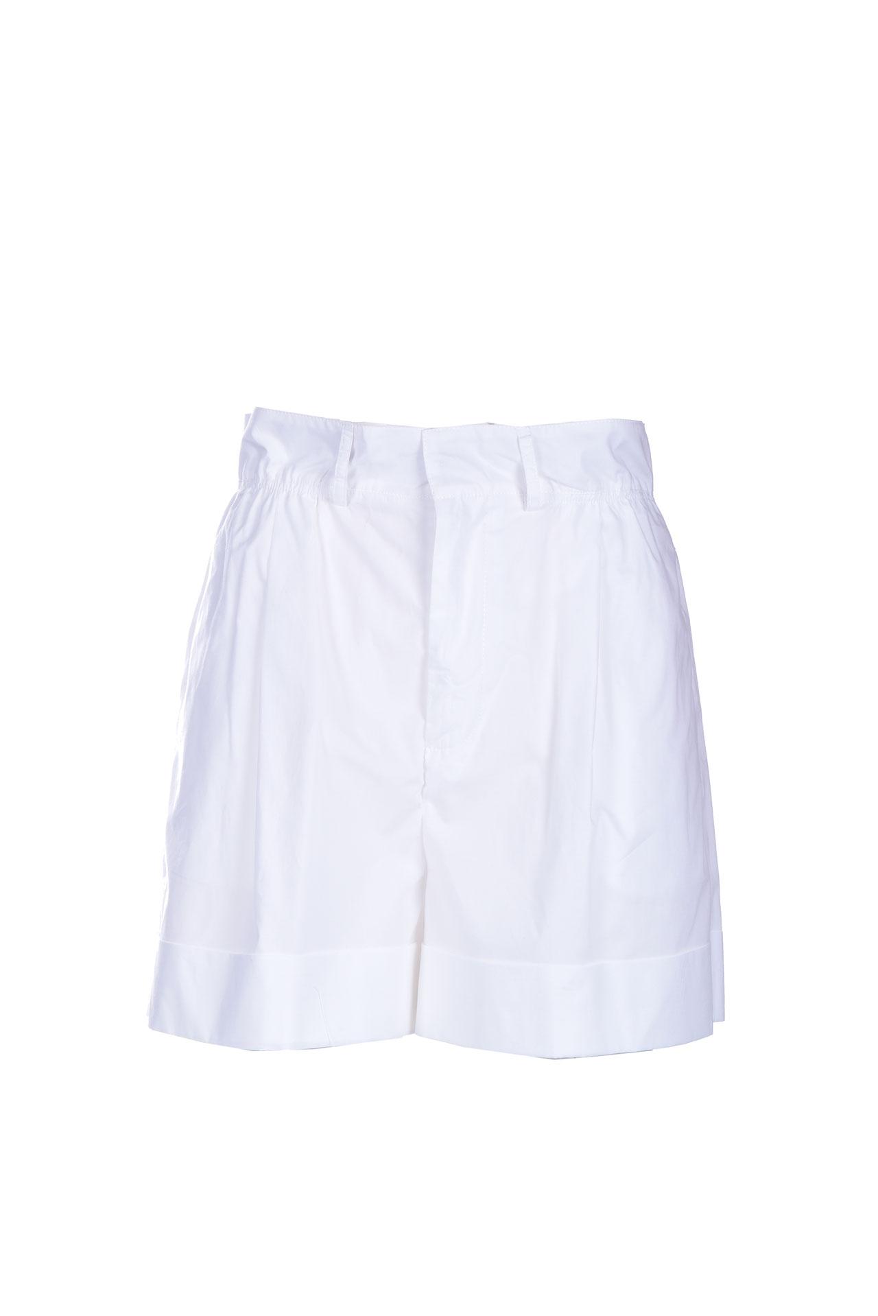 White high-waisted cotton shorts JUCCA   Shorts   J3314012001